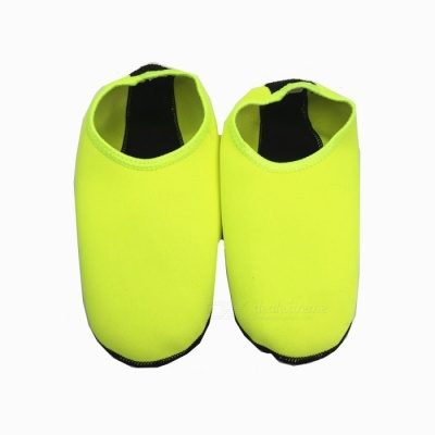 Unisex Anti-slip Anti-skid Diving Socks for Men Women - Fluorescent Green (M)