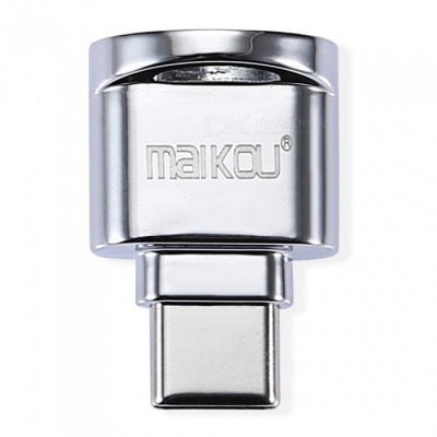 MAIKOU Mini OTG Type-C to TF Card Reader - Silver