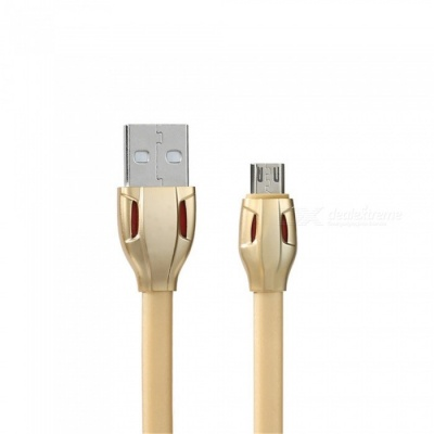 Universal 2.1A Quick Charge Micro USB Cable - Gold (100cm)