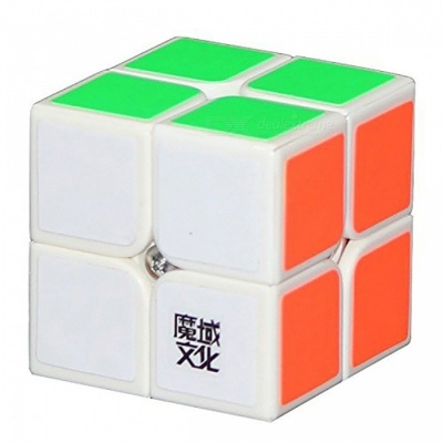 MoYu LingPo 50mm 2x2x2 Smooth Speed Magic Cube Puzzle Toy for Kids, Adults - White