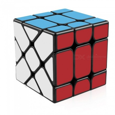 YJ Fisher 57mm 3x3x3 Smooth Speed Magic Cube Puzzle Toy for Kids Adults - Black