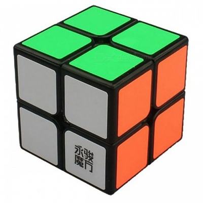 YJ YuPo 50mm 2x2x2 Smooth Speed Magic Cube Puzzle Toy for Kids, Adults - Black