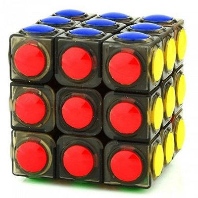 YJ LingGan 60mm 3x3x3 Smooth Speed Magic Cube Puzzle Toy for Kids, Adults - Translucent Black