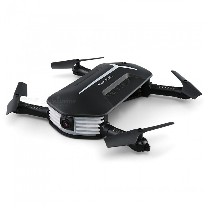 JJRC H37 Mini Baby Elfie Wi-Fi FPV Foldable RC Quadcopter Drone with HD 720P Camera - Black