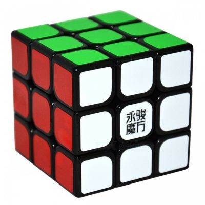 YJ SuLong 57mm 3x3x3 Smooth Speed Magic Cube Puzzle Toy - Black