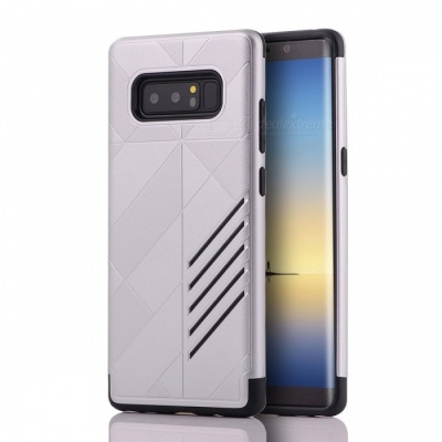 Mini Smile Dual Layer PC TPU Protective Case Shock-proof Scratch-resistant Cover for Samsung Galaxy Note 8 - Silver