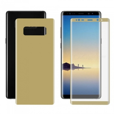 Hat-Prince 3D Full Screen Guard Front + Back Protector Film for Samsung Galaxy Note 8 - Golden