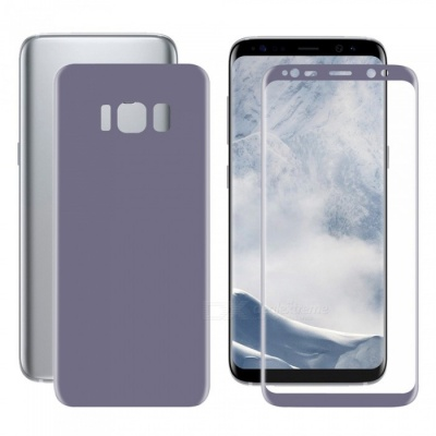 Hat-Prince 3D Full Screen Guard Front + Back Protector Film for Samsung Galaxy S8 - Purple