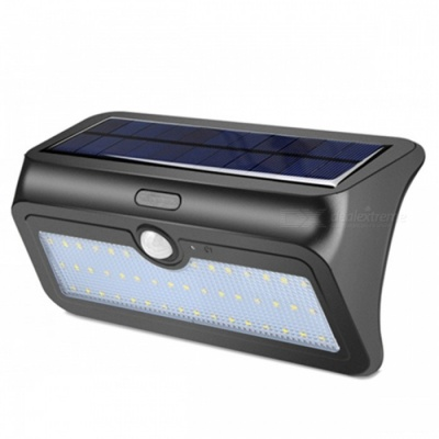 ZHAOYAO Outdoor 13.8W Solar Powered 48-LED Light IP65 Waterproof White Solar Panel Lamp