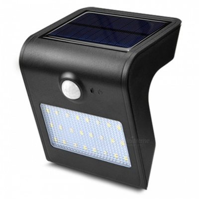 ZHAOYAO Outdoor 7.2W Solar Powered 24-LED Light IP65 Waterproof White Solar Panel Lamp