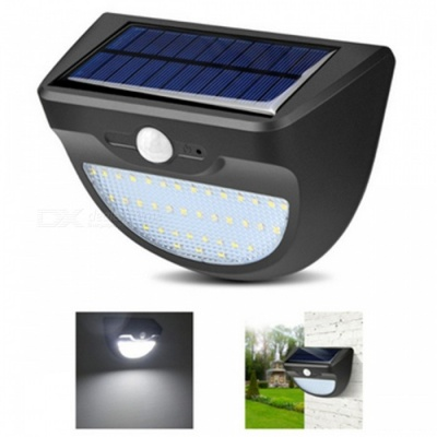 ZHAOYAO Outdoor 11.2W Solar Powered 37-LED Light IP65 Waterproof White Solar Panel Lamp