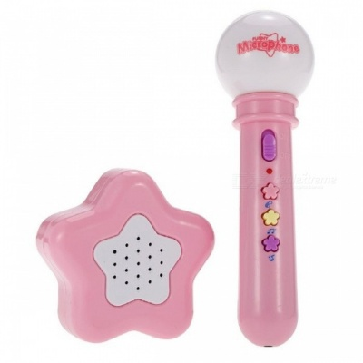 Mini Cute Muisc Microphone Toy with Star-look Loudspeaker Box for Kids Baby - Pink