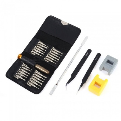 AS-96 30-Piece Portable Screwdriver Tool Set with Leather Storage Bag