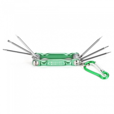 AS-60 Portable Repair Disassembling Tool Kit Screwdriver Set with Clip for IPHONE / Samsung / Xiaomi - Green