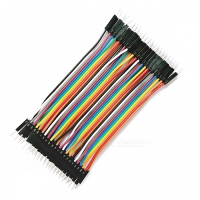 Male to Male 40-Pin DuPont Wire Jump Wire Cable Line for Electronic DIY - Multicolor (10CM / 40PCS)