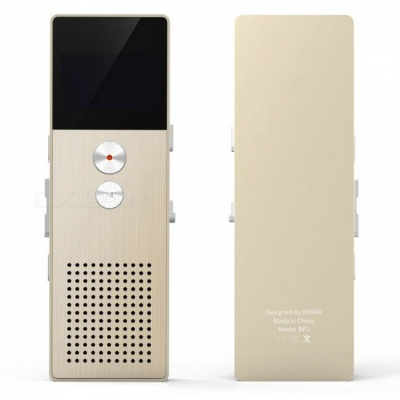 RP1 Mini Voice Recorder Dual Microphone MP3 Recorder Recording Pen with TF Card Slot / Earphone - Golden (8GB)