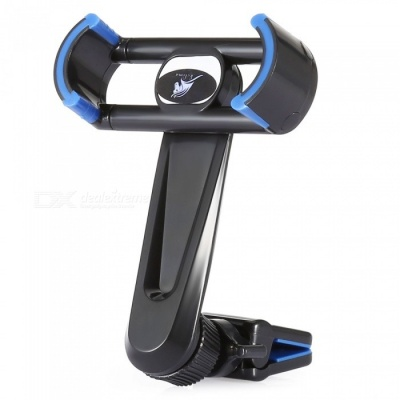 KELIMA Car Air Vent Outlet Mount Long Rod 360 Degree Rotation Phone Stand Holder - Black, Blue