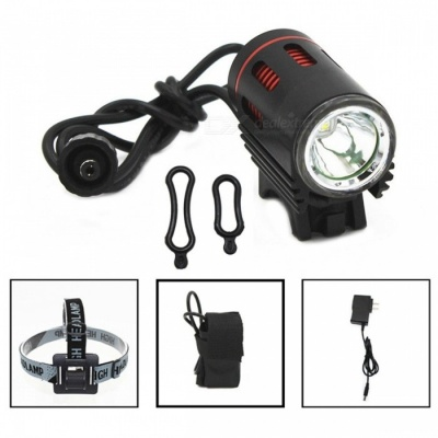 ZHAOYAO L2 Rechargeable Bike Lamp Headlight for Night Cycling - Black, Red