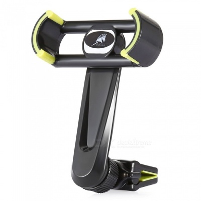 KELIMA Car Air Vent Outlet Mount Long Rod 360 Degree Rotation Phone Stand Holder - Black, Yellow