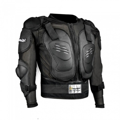 Riding Tribe HX-P15 Long-Sleeved Safety Body Armor Jacket for Outdoor Motorcycle Riding - Black (L)