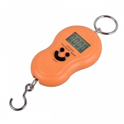 BLCR 45Kg /10g Portable Hanging Hook Digital Scale Electronic Weight with LCD BackLight Display - Yellow