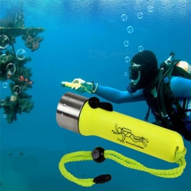 XM-L Waterproof 1200LM 2-Mode LED Diving Flashlight Torch Lamp Light - Green