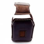 Leather Lighter Holster with Velcro Design - Brown