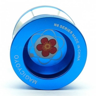Premium High-End Aluminum Alloy Bearing  Type Yoyo Ball Toy - Blue
