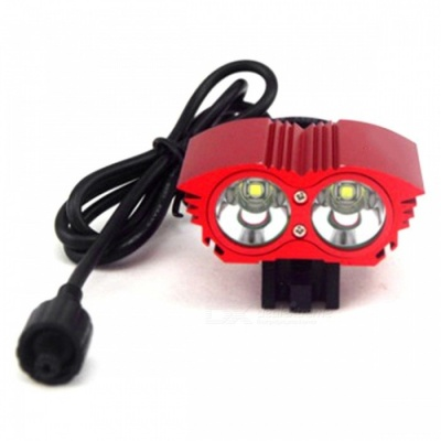 ZHAOYAO T6 Dual LED Bicycle Bike Light Headlamp Headlight Mountain Bike Outdoor Riding Lamp - Red