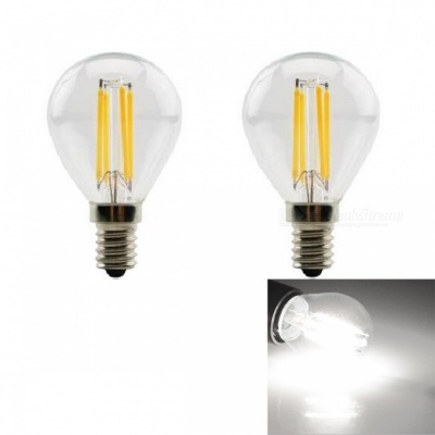 JRLED E14 4W 400lm COB LED Cold White Retro Bulb (AC 220V / 2 PCS)