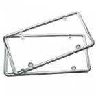 IZTOSS Automobile Car Metal License Plate Frame Cover for American Standard Size