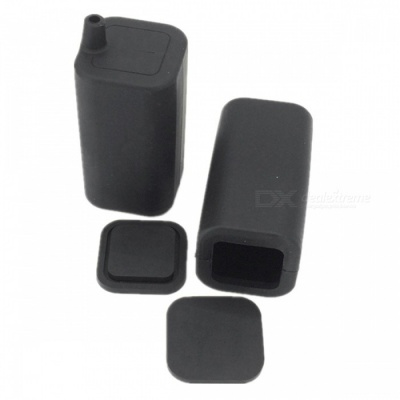 ZHAOYAO Water Resistant Silicone Case Cover for 4x18650 Battery Pack - Black
