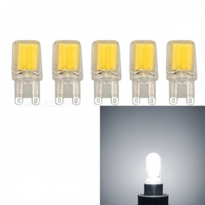 JRLED G9 3W COB Cold White Dimmable Light Bulbs (AC 220V, 5 PCS)