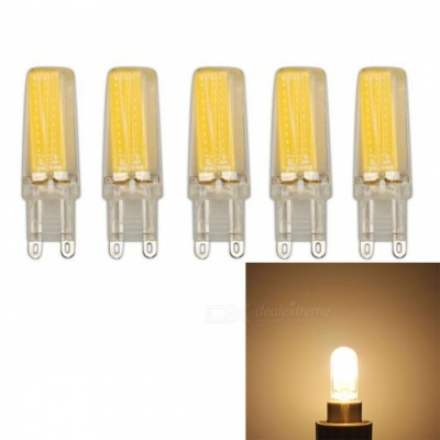 JRLED G9 5W COB Warm White Dimmable Light Bulbs (AC 220V, 5 PCS)