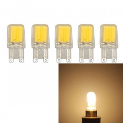 JRLED G9 3W COB Warm White Dimmable Light Bulbs (AC 220V, 5 PCS)