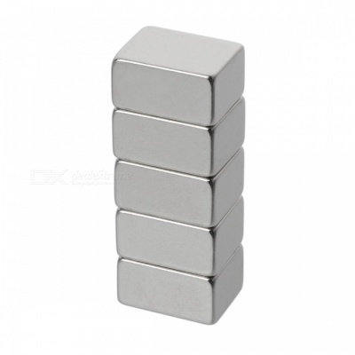 20mm*15mm*10mm Rectangle Super Strong NdFeB Magnet - Silver (5 PCS)