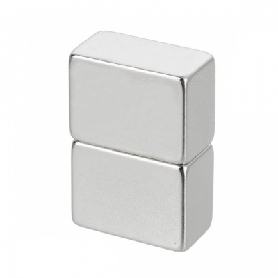 20mm*15mm*10mm Rectangle Super Strong NdFeB Magnet - Silver (2 PCS)