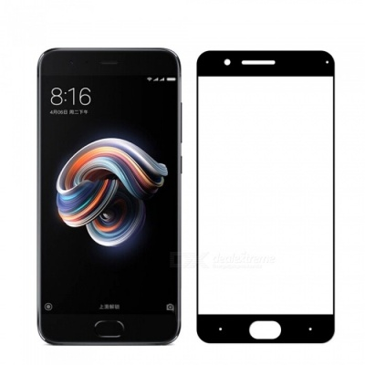 Naxtop Tempered Glass Screen Protector for Xiaomi Mi Note 3 - Black