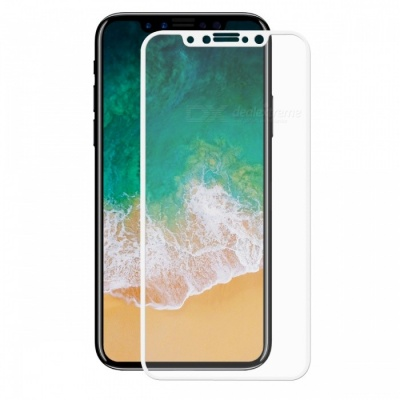 Hat-Prince Full Coverage Tempered Protector for IPHONE X - White