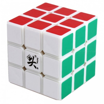 DaYan LunHui 56mm 3x3x3 Smooth Speed Magic Cube Puzzle Toy for Kids, Adults - White