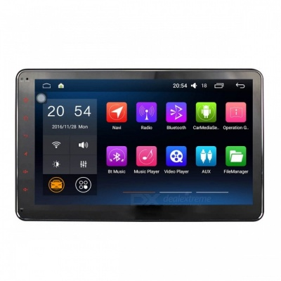 "Joyous J-3863N6.0 Universal HD1024x600 10.1"" Full Touch Screen 2-Din Android 6.0.1 Car Radio / GPS, Support Bluetooth, DVR"