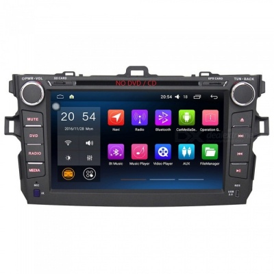 "Joyous J-8812N6.0 8"" HD 1024 * 600 Android 6.0.1 Car Radio / GPS Navigation for 2007--2011 Toyota Corolla"