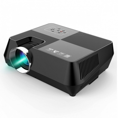 BLCR B8 Portable Mini 150Lumens HDMI USB Home LED Projector, Video Game Movie Projector Beamer (EU Plug)