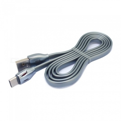 2.1A USB Type-C Fast Charge Charging Data Sync Cable for Macbook Xiaomi and More Devices - Grey