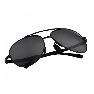 Men's Pilot UV400 Anti UVA/UVB/UVC Polarized Sunglasses Eyeglasses - Black
