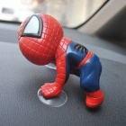 360 Degree Rotating Cute Climbing Suction Cup Doll Toy for Car Decoration - Red