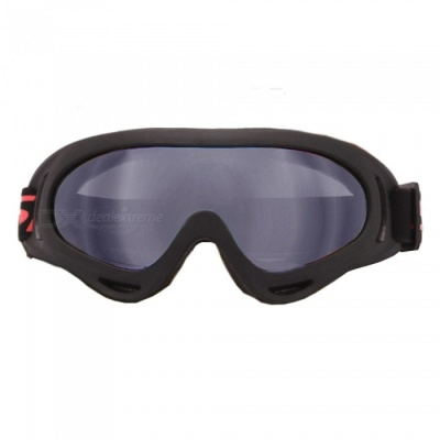 UV400 Protective Outdoor Cycling Motorcycle Sports Goggles, Ski Glasses - Black + Translucent Black