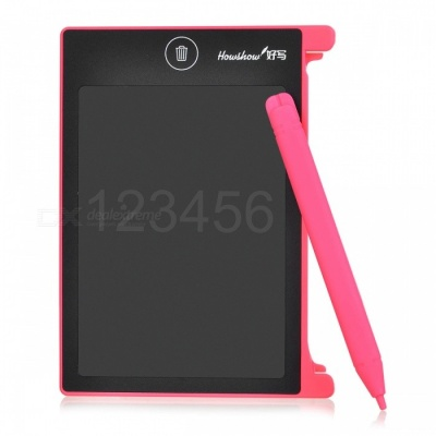 "Portable Mini 4.5"" LCD Writing Tablet, Drawing Board Use with Stylus for Children - Pink"