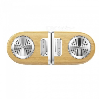 D10 Portable Optimal Stereo Sound Wireless Bluetooth Magnetic Speaker - Wood Color