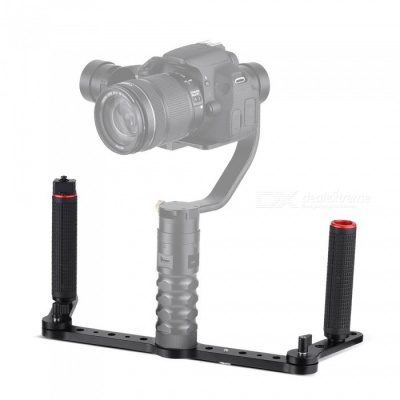 Aluminum Alloy Dual Grip Gimbal Handle with Joystick Control